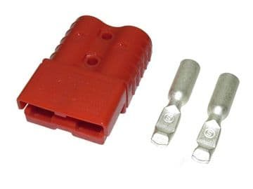 50 amp 600v RED CABLE TERMINAL BATTERY CONNECTORS boat forklift